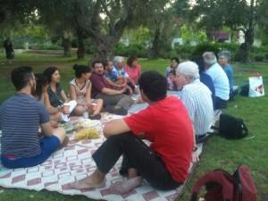מפגש הפעילים בגן הפעמון