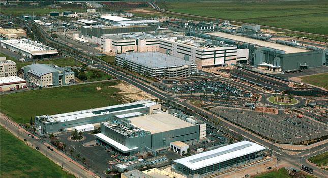 יקבלו עוד הטבת ענק מהמדינה. מפעל אינטל בקרית גת (צילום: פיקיוויקי, ארכיון קרית גת)