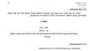 כך נראית הצבעה בוועדה בפרוטוקול הרשמית