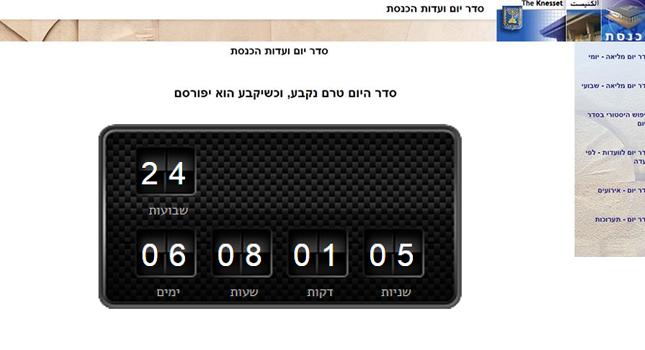 כמה ימים מדינת ישראל בלי כנסת פעילה?
