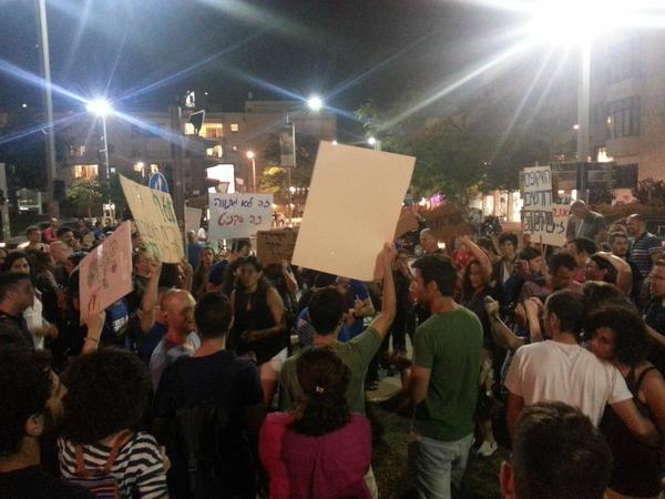 ההפגנה נגד המתווה המסתמן בעניין מונופול הגז, יום שבת האחרון